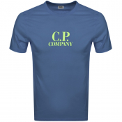 Product Image for CP Company Logo T Shirt Blue